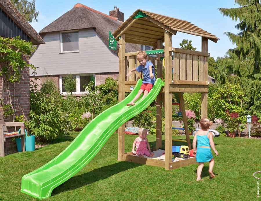 Torretta gioco Cottage Jungle Gym con scivolo_mybricoshop-jungle-Gym