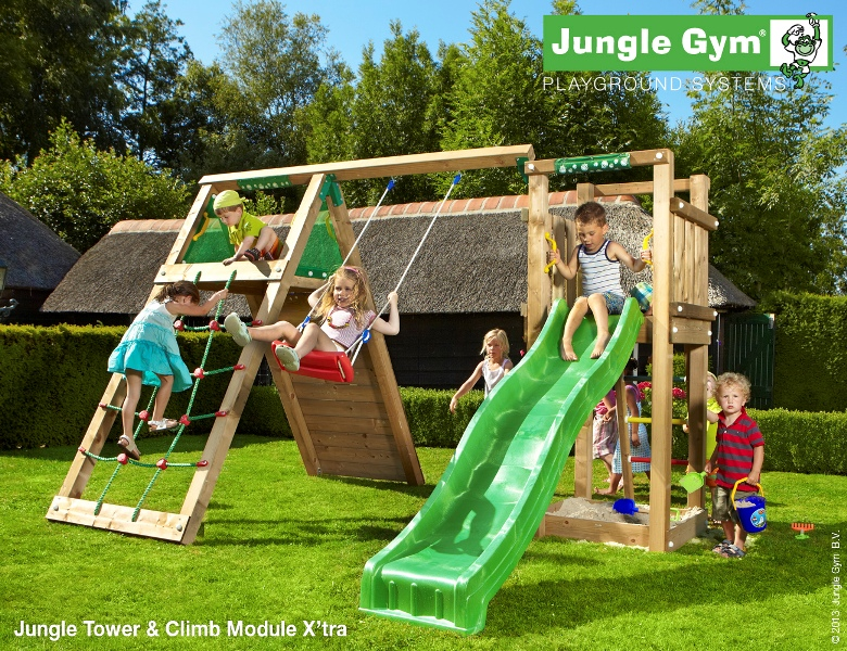 Parco gioco TOWER-CLIMB Jungle Gym con scivolo_altalena-arrampicata-mybricoshop_product