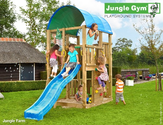 Torretta gioco FARM-Jungle-Jym-con scivolo_mybricoshop