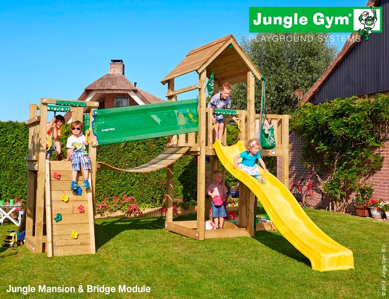 Parco gioco con scivolo e altalena Jungle-Gym-MANSION-Bridge_mybricoshop