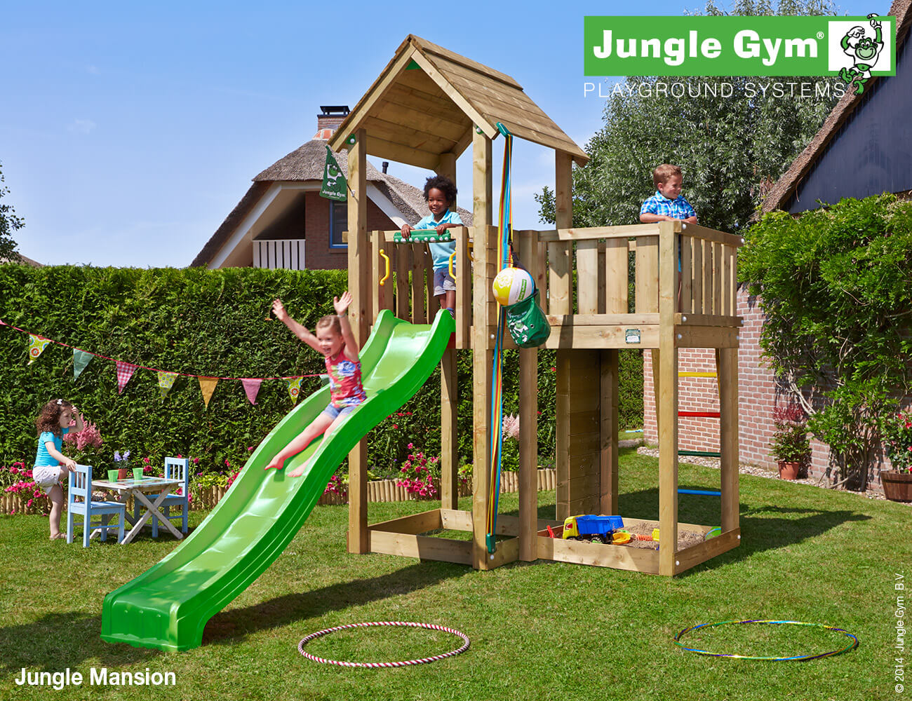 Torretta gioco MANSION-Jungle-Gym-con scivolo_mybricoshop