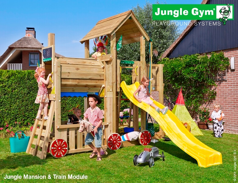 Parco-giochi-Jungle-Gym-Mansion-Train-forma-nave-torretta-scivolo-arrampicata-mybricoshop