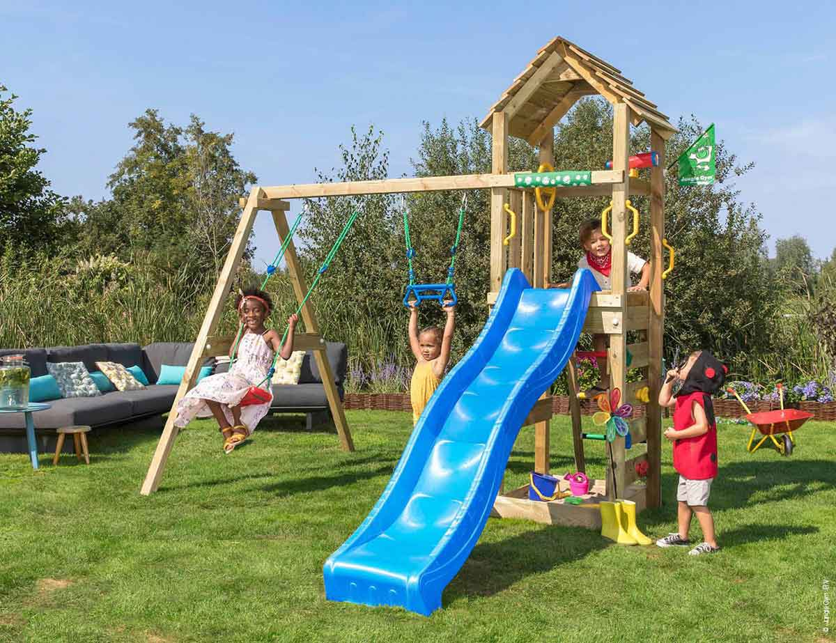 Torretta gioco Coocon con scivolo altalena_mybricoshop-jungle-gym_product