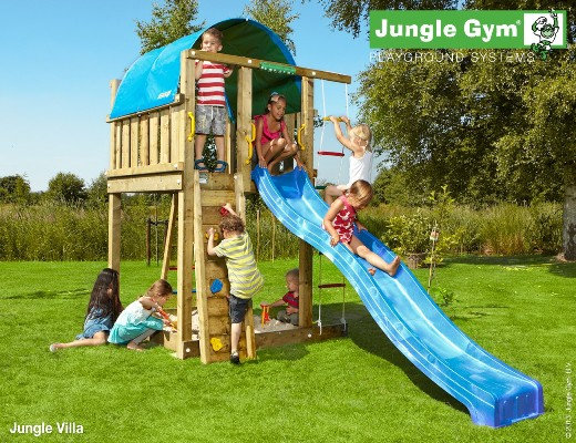 Torretta gioco  VILLA-jungle-gym- con scivolo_mybricoshop