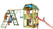 Torretta gioco barn Climb Jungle Gym  con scivolo e  arrampicata uso privato accessori kit gratis