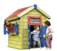 Casetta gioco jungle playhouse con porta e finestra uso privato parchi gioco