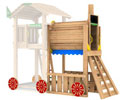 Estensione train Jungle Gym  module per torrette gioco arrampicata altalena scivolo accessori gratis