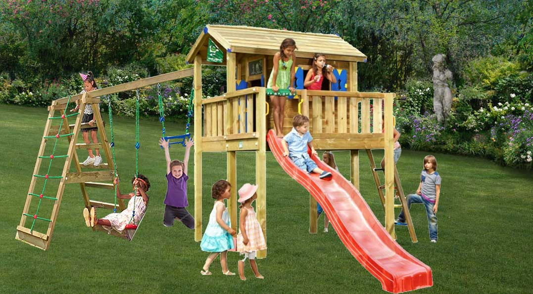 Parco gioco casetta PLAYHOUSE XL-old-CLIMB Jungle Gym con scivolo_altalena-arrampicata-mybricoshop_product_product